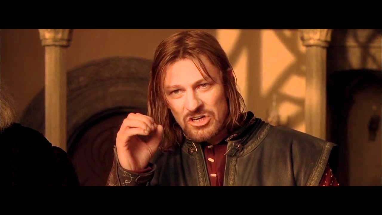 Dwight Correcting Boromir Lotr Lotr Funny One Does Not Simply