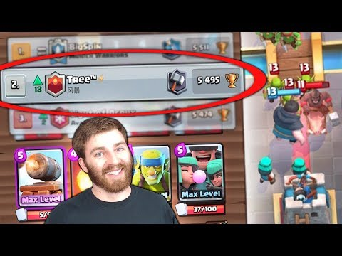 NUMBER #2 PLAYER IN THE WORLD RASCALS BATTLE DECK! | Clash Royale | MAX RASCAL DECK GAMEPLAY!