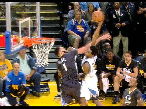 Andrew Wiggins POSTERIZES JaVale McGee On The Drive!