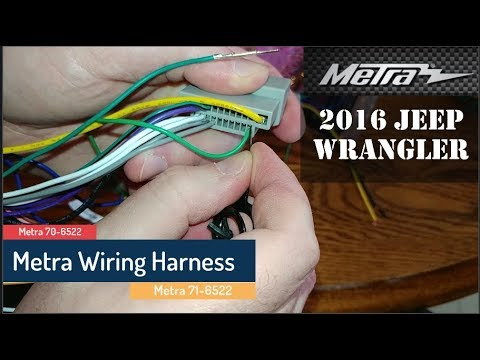 Removing wires from a Metra harness - YouTube