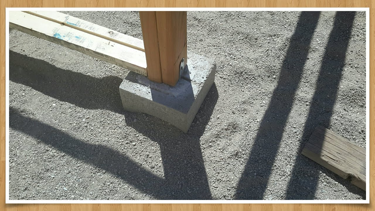How to make pier foundation blocks for cheap youtube for Post and pillar foundation