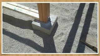 🛠 How to Make Pier/ Foundation Blocks for Cheap.