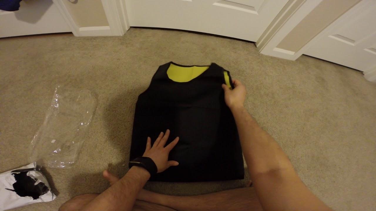 27c8f6f83d Unboxing Calculs Mens Hot Sweat Body Shaper Vest Tummy Fat Burner Slimming  Sauna Tank Top Weight Los