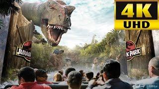 JURASSIC PARK RIDE 4K POV Universal Studios Orlando Florida thumbnail