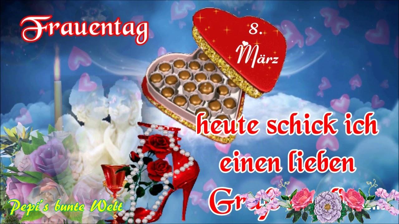 Frauentag8märzich Schick Einen Lieben Gruß Zu Dir Er Kommt Vom Herzenund Von Mir
