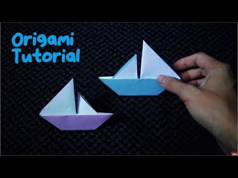 AYO BELAJAR MEMBUAT KAPAL DARI KERTAS ORIGAMI, MUDAH BANGET - How to fold ship origami easy