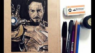 길쌤의 어벤져스2 에이지 오브 울트론 아이언맨 토니스타크 그리기 Age of Ultron  Iron Man Tony Stark drawing  라임튜브 LimeTube