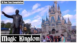 EPIC Magic Kingdom at Walt Disney World Tour Video   10 Year Tour Compilation 2010-2020