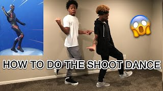 TEACHING MY BROTHER THE SHOOT DANCE | FORTNITE HYPE