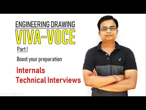 Viva Voce || Engineering Drawing Part 1 || Internals and Technical Interviews