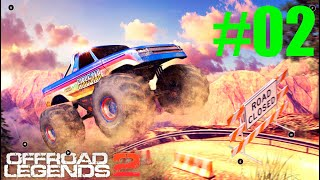 GAMEPLAY OFFROAD LEGENDS 02 MONSTER WARMUP STAGE #6 MONSTER TRUCK HUNTER #7 ANDROID #02