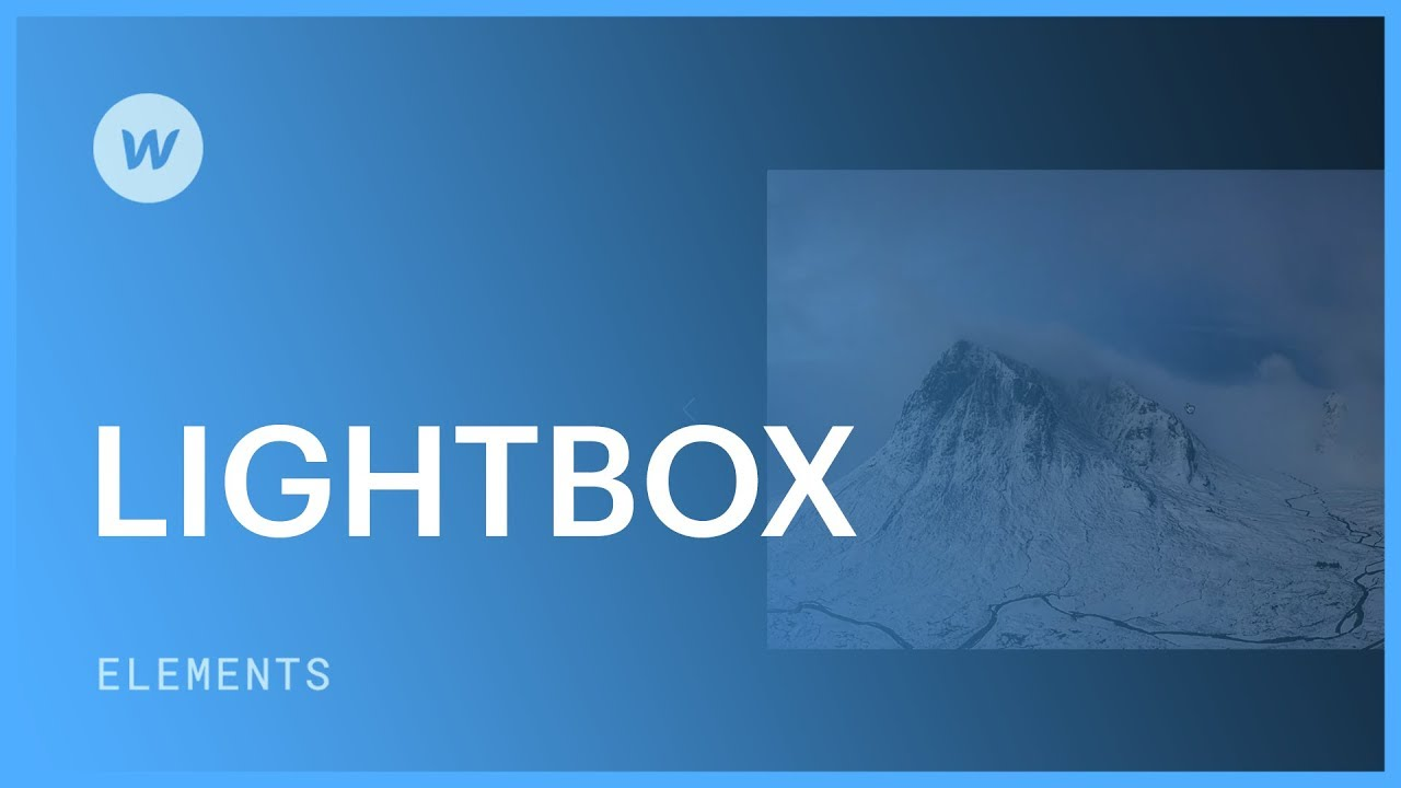 Lightbox for images and videos - Web design tutorial