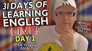 31 Days of Learning English - Day 1 - Hi Everybody! It's time to improve your English - introduction