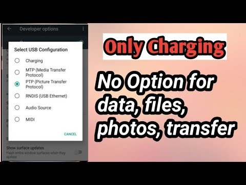 USB only charging , files transfer, photo transfer options not showing problem solved