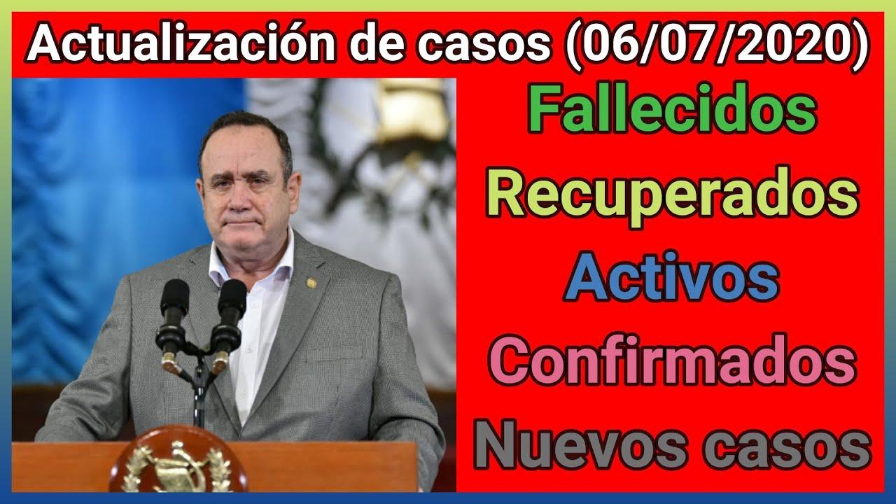 😷 Actualización de casos diarios del MSPAS (06/07/2020) - por MOVIMIENTO GT