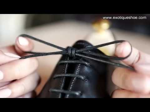 HOW TO LACE & TIE FORMAL SHOE || DRESS SHOE || LACE UP SHOE || EXOTIQUE SHOE