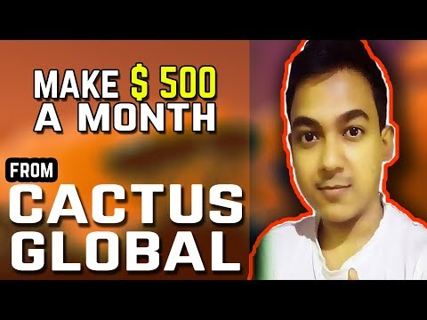 How To Make $ 500 A Month |Flexible Jobs For Students By Cactus Global  - Work From Home|