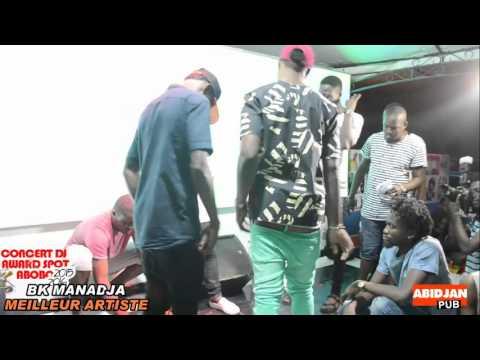 BK MANADJA MEILLEUR ARTISTES AU CONCERT DJ AWARD SPOT ABOBO 2015-2016
