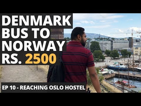 Episode 10 -  Denmark To Norway Rs. 2500 Bus, Chat with Locals, Cheapest Stay in Oslo, Desi Veg Food