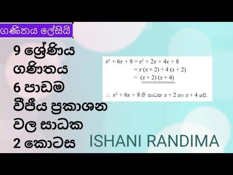 Grade 9 Factors of Algebraic Expressions   9 වසර වීජීය ප්රකාශන වල සාධක (6 පාඩම ) #GanithayaLesiy
