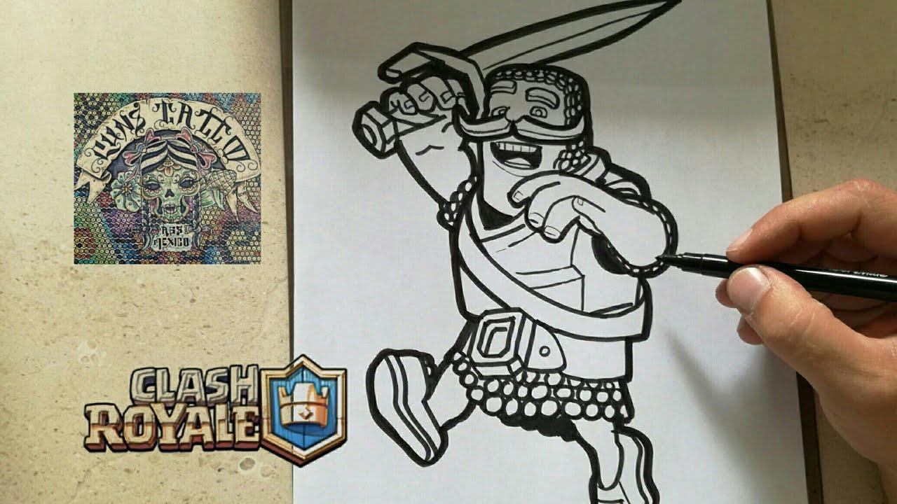 Clash Royale Personajes Para Colorear: COMO DIBUJAR AL CABALLERO