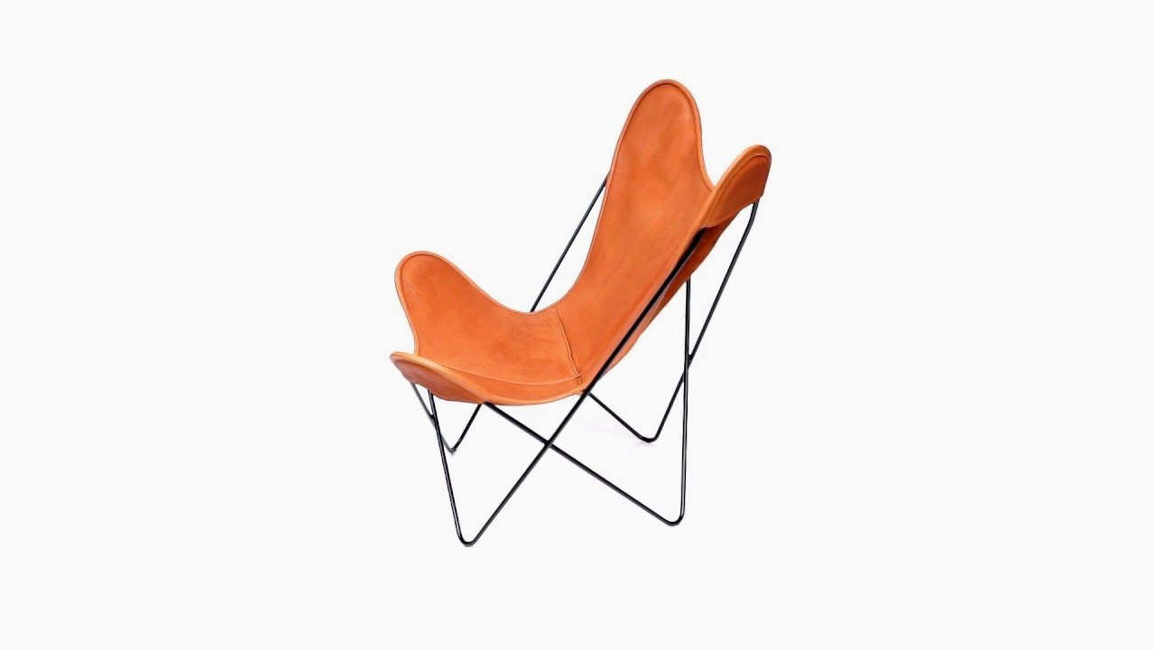 Butterfly Chair Leder Hardoy Butterfly Chair 360 Video