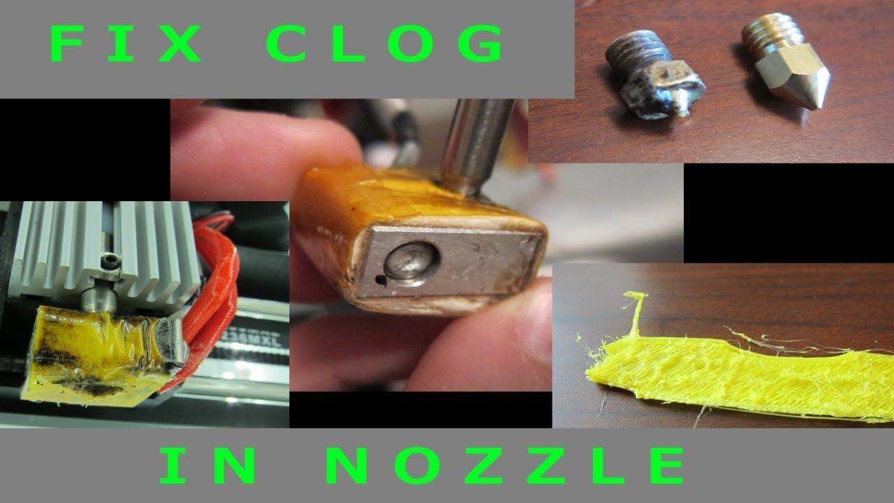 Fix Clog in Nozzle - Monoprice Select Mini - 3D Printer