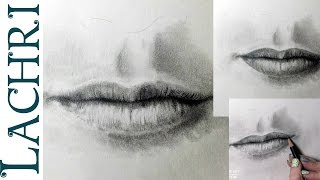 How to draw a realistic mouth - drawing  tutorial w/ Lachri