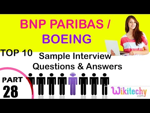 bnp paribas | boeing top most interview questions and answers for freshers/experienced