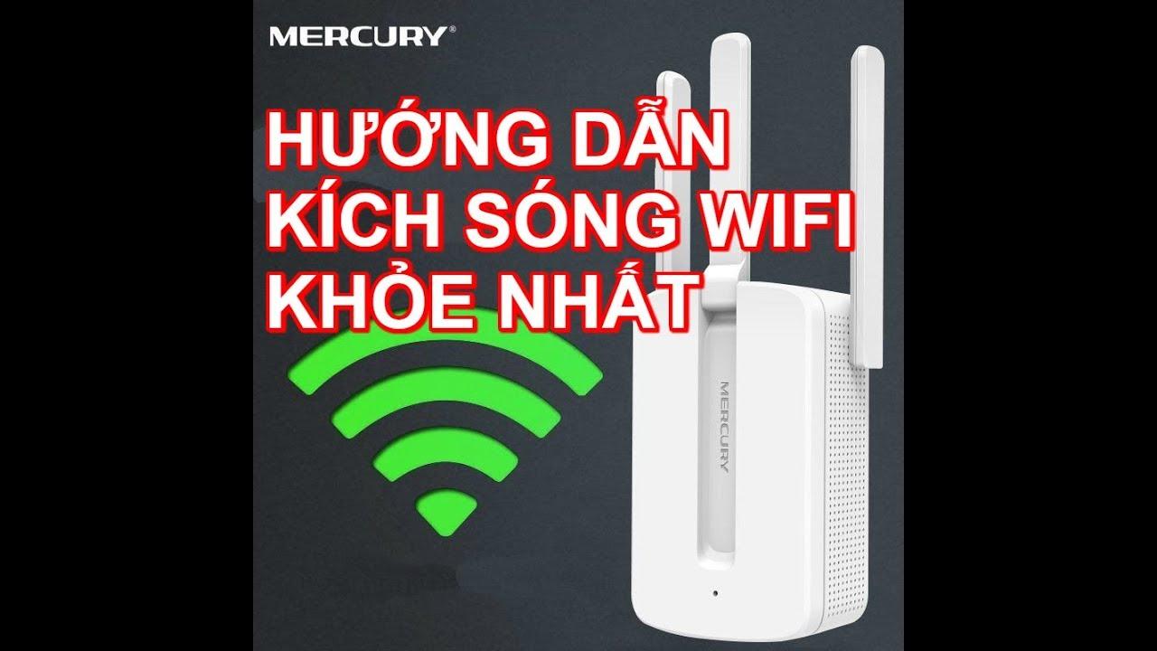 Thiết bị kích sóng wifi mercury 3 râu kích sóng wifi khỏe nhất giá rẻ