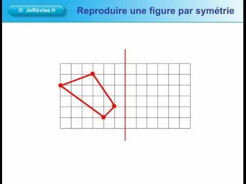 Bien-aimé Reproduire une figure par symétrie. Leçon de géométrie pour le CE1  FR22