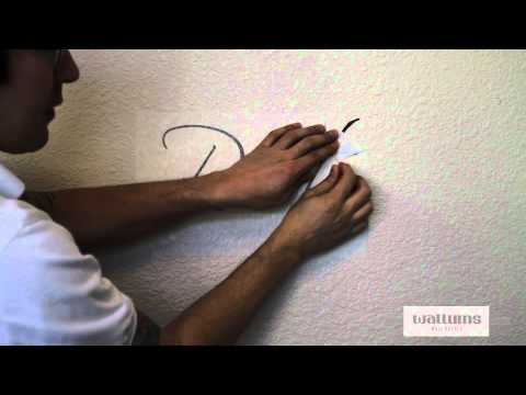 How to install large multi-piece wall decals