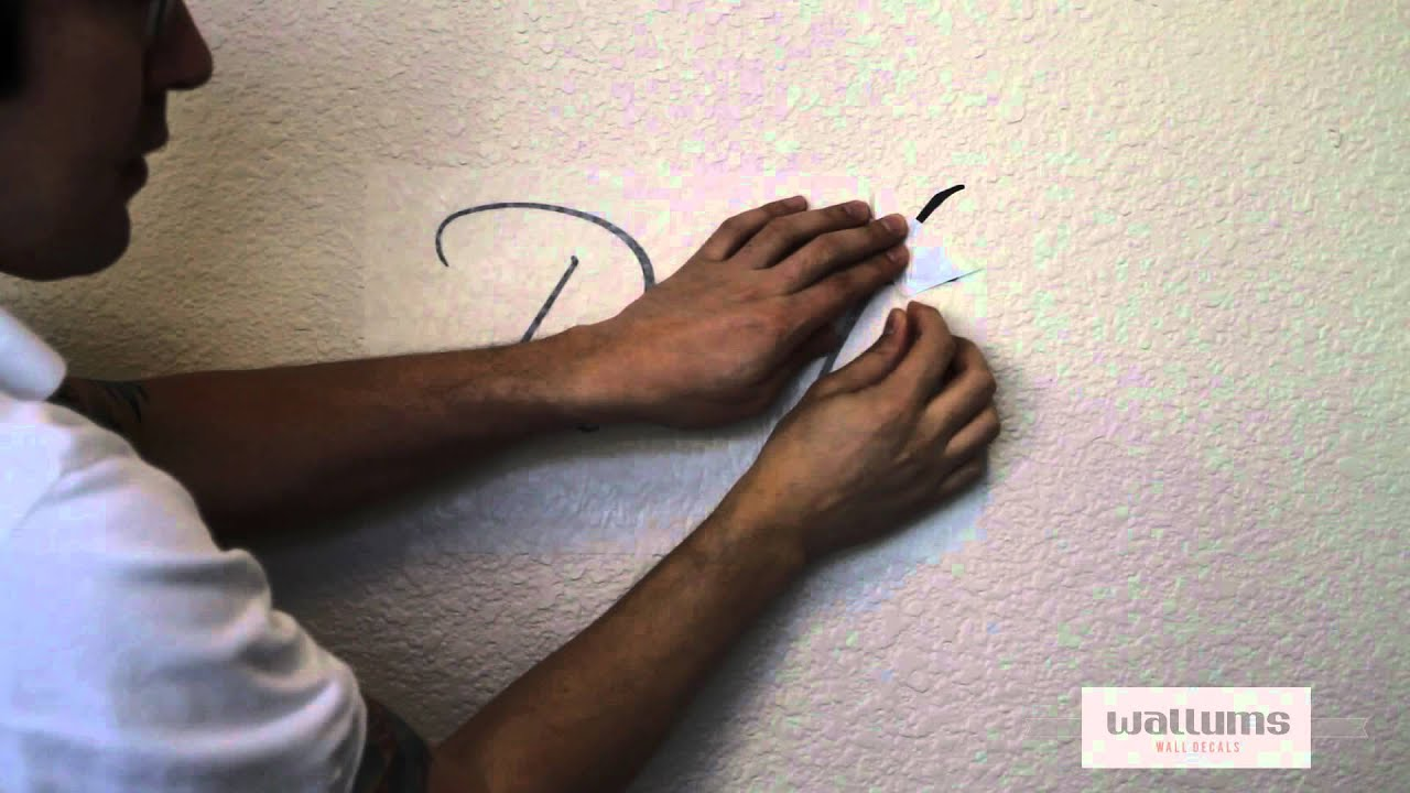 How To Install Large Multi Piece Wall Decals Youtube