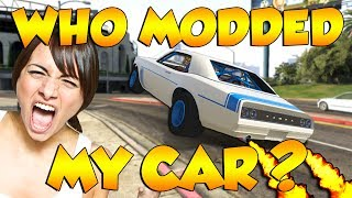 MODDING ANGRIEST GAMER GIRLS CAR WITHOUT THEM KNOWING! (GTA 5 Funny Trolling)