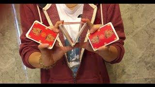 三心二意教學, 最新撲克牌花切手法, 帥到沒朋友(The latest poker playing techniques, handsome to no friends.)