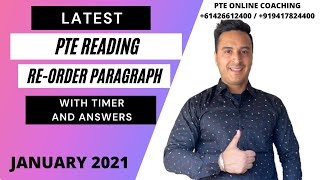 PTE READING RE-ORDER PARAGRAPH WITH ANSWERS AND TIMER  JANUARY 2021