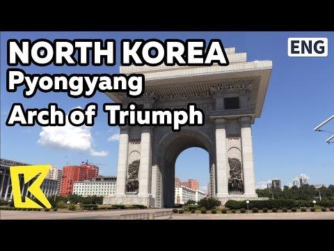【K】North Korea Travel-Pyongyang[북한 여행-평양]세계에서 제일 큰 개선문/Arch of Triumph/1945/Statue
