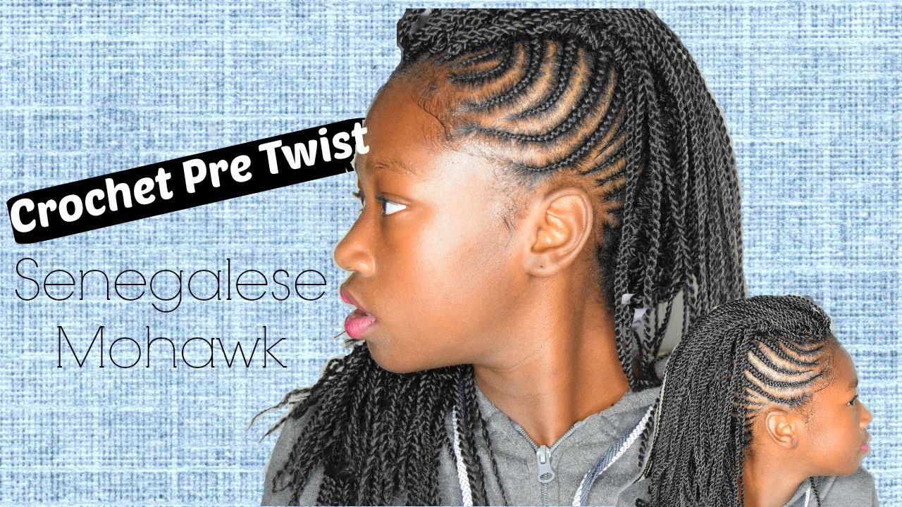 Crochet Pre Twisted Senegalese Mohawk Tutorial Youtube