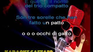 Cristina D'Avena  Occhi di gatto karaoke con coro
