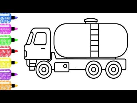 Belajar Menggambar Truk Tangki Air Youtube