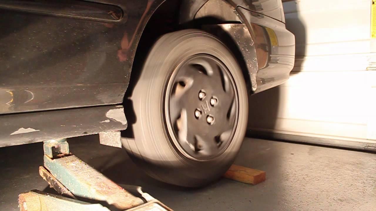 1996 Honda Civic EX DY618 Front vs. Rear Wheel Spin, MPG - YouTube