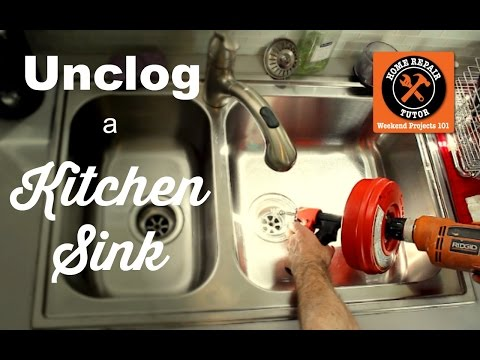how-to-unclog-a-kitchen-sink-drain----by-home-repair-tutor