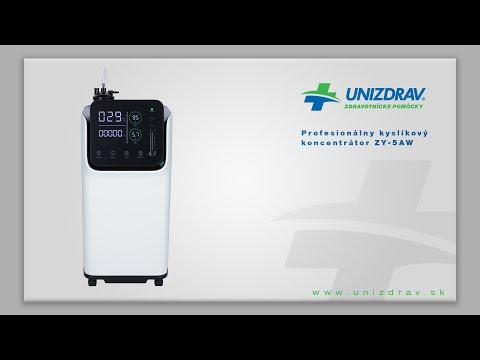 Profesionálny kyslíkový koncentrátor ZY 5AW  - VIDEOMANUÁL