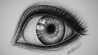 تعليم الرسم بالرصاص | تعلم رسم عين خطوة بخطوة | رسم عيون بشكل احترافي