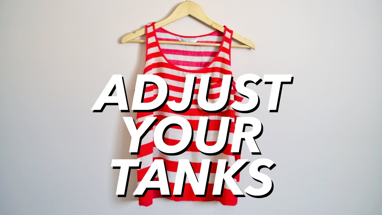 6d820c24a How to Adjust Your Tank Tops (reduce cleavage) | WITHWENDY - YouTube