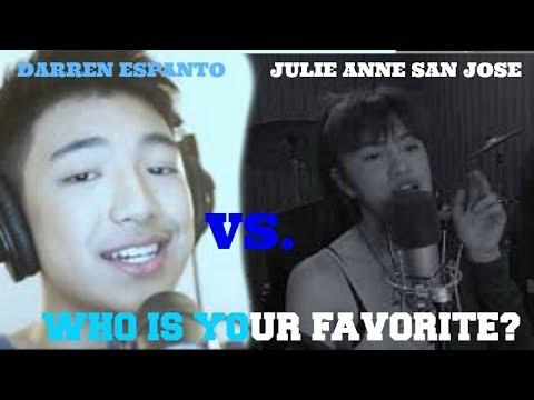 DESPACITO REMIX COVER - WHO IS YOUR FAVORITE (DARREN ESPANTO VS JULIE ANNE SAN JOSE!)