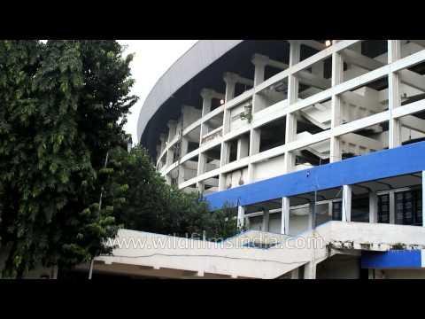 Exterior view of Salt Lake Stadium in Kolkata
