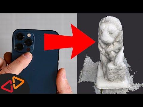iPhone 12 Pro LIDAR Sensor - INCREDIBLE FAST 3D Scanner!
