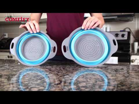 Collapsible Colander Set by Comfify - Easy to use, easy to store, easy on the eyes!
