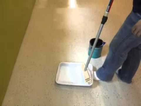 Polycrylic over painted concrete floors - YouTube